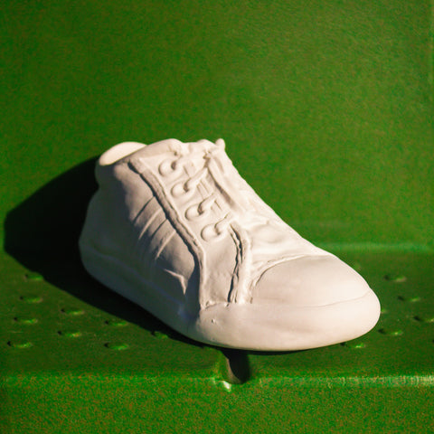 "Detailed Tennis Shoe 8.1"" Ready to Paint Ceramic Bisque"