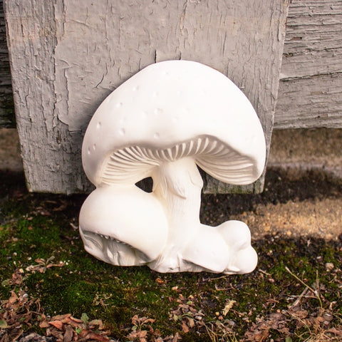 "Adorable Polka Dot Wall Mushrooms 4.6"" Ready to Paint Pottery Ceramic Bisque"