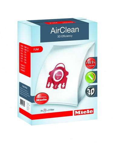 Miele AirClean 3D Efficiency Dustbags Type FJM - 4 Pack - MH Vacuums