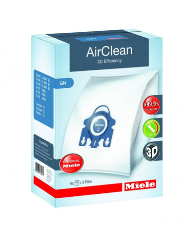 Miele AirClean 3D Efficiency Dustbags Type GN - 4 Pack - MH Vacuums