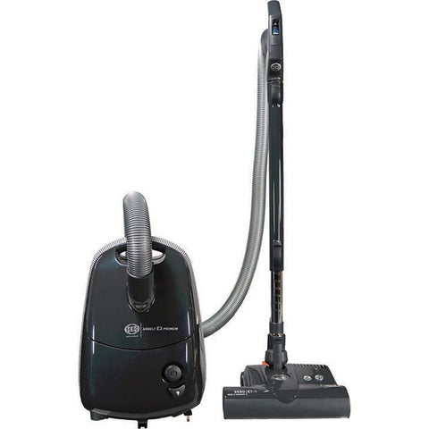 SEBO E3 Premium Series Airbelt BLACK Canister Vacuum Cleaner with ET-1 and Parquet Brush - MH Vacuums