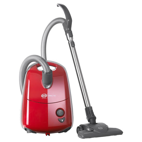 SEBO E3 Premium Series Airbelt RED Canister Vacuum Cleaner with ET-1 and Parquet Brush