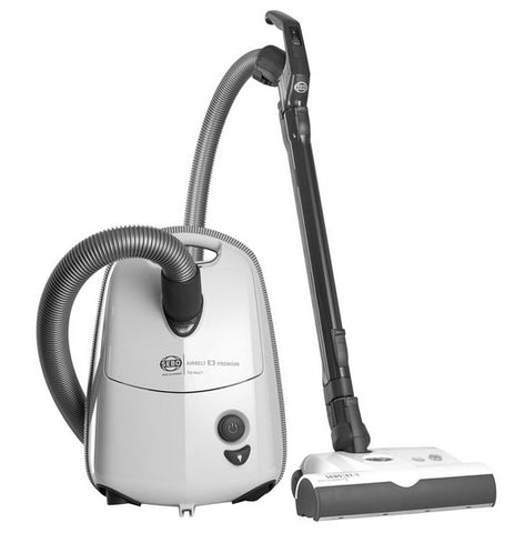 SEBO E3 Series Premium Airbelt WHITE Canister Vacuum Cleaner - MH Vacuums