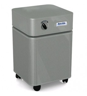 Austin Air Allergy Machine™ Air Purifier 1500 sq ft. (Silver) 360-degree intake system with 4-stage filter and 5 Year Warranty