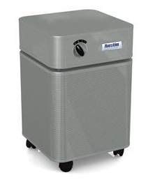 Austin Air HealthMate Jr.™ Air Purifier 700 sq ft. (Silver) 360-degree intake system with 4-stage filter and 5 Year Warranty