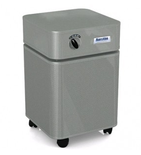 Austin Air Allergy Machine™ Jr. 700 sq ft.  Air Purifier (Silver)  Draws over 125 cubic feet of air through a 4-stage HEGA filter - MH Vacuums