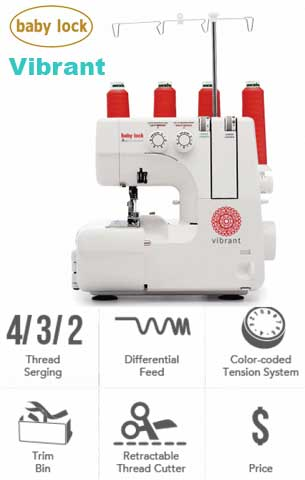 Baby Lock Vibrant Genuine Collection Sewing Machine - BL460B