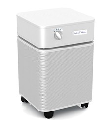 Austin Air Bedroom Machine™ Air Purifier 1500 sq ft.  (White) 360-degree intake system with 5-stage filter and 5 Year Warranty - MH Vacuums