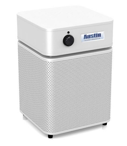 Austin Air Allergy Machine™ 1500 Sq. Ft. Air Purifier (White) 360-degree intake system with 4-stage filter and 5 Year Warranty