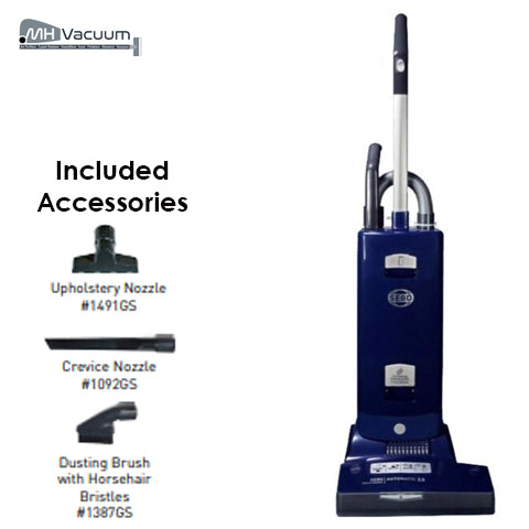 Sebo Automatic X8 Upright Vacuum - Blue - 91566AM - MH Vacuums