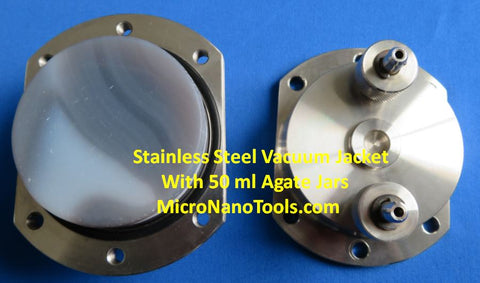 A set of 4 Stainless Steel Vacuum Jackets - For Vacuum and Inert Gas Grinding