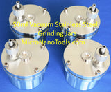 A set of Four Vacuum Stainless Steel Grinding Jars Inclu. Balls