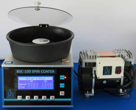 BSC-100 Spin Coater with Oil-less Vacuum Pump and Three Chucks - Two-year Warranty