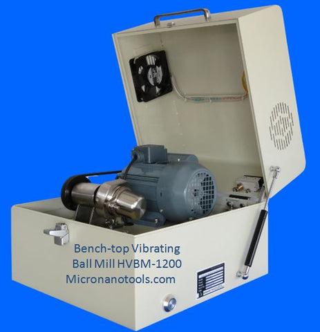 Bench-top High Speed Vibrating Ball Mill (HVBM-1200) with one 80ml SS Jar - 2-year Warranty