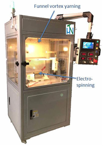 NanoFiber Electrospinning and Vortex Yarning Machine - ESVY-100