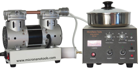 KW-4A Spin Coater with Oil-less Vacuum Pump, Air Filter, and Three Chucks - Two-year Warranty