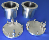 A Set of 4 Tungsten Carbide Grinding Jars and Balls combo