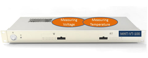 8 Channel Battery Voltage and Temperature Monitor MNT-BVT-100, UL&CSA Ready -Two-year Warranty