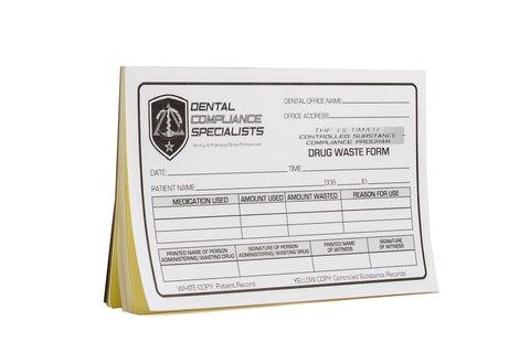 DEA Controlled Substance Waste Witness Verification Forms