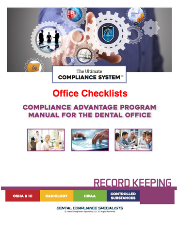 Office Compliance Checklist Logs