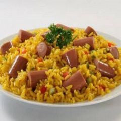 Rice with Sausages, Arroz con Salchichas Recipe