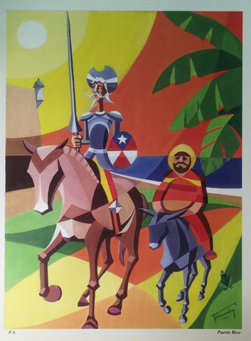 Don Quijote y Sancho Panza Serigraphy