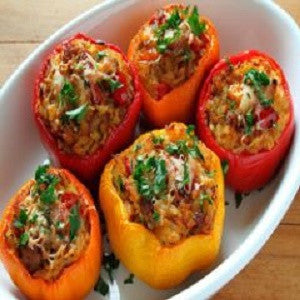 Stuffed Peppers, Pimientos Rellenos Recipe