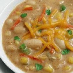 Corn and Beans Chowder Recipe - www.ElColmado.com
