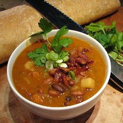Beans and Bacon Soup Recipe - www.ElColmado.com
