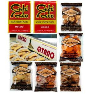 Gift Box Cafe Rico Taino Cookies and Brazo Gitano