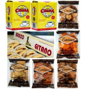 Gift Box Cafe Crema Taino Cookies and Brazo Gitano