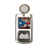 Puerto Rico Taino Sign Bottle Opener Keychain