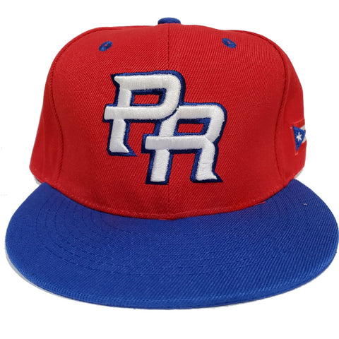 Puerto Rico Baseball Cap Red and Blue