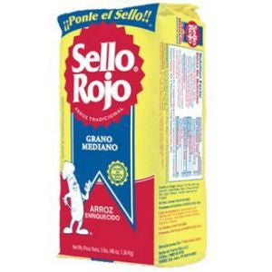 1 Bag Sello Rojo Rice, Medium 3lb