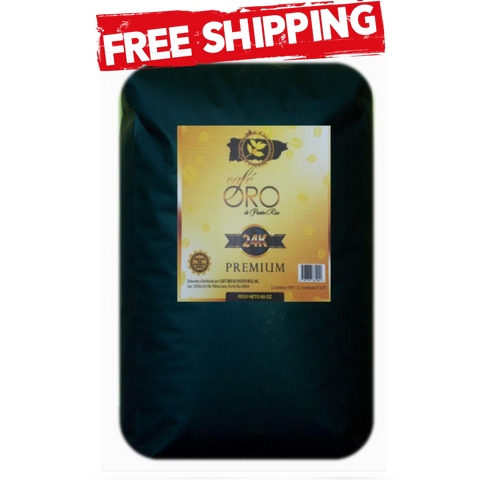 Cafe Oro Premium Whole Beans 5lb