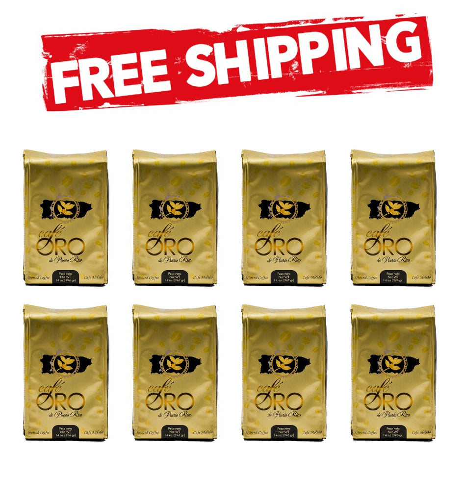 8 Bags Cafe de Oro 14oz