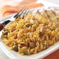 Rice and Green Pigeons, Arroz con Gandules Recipe