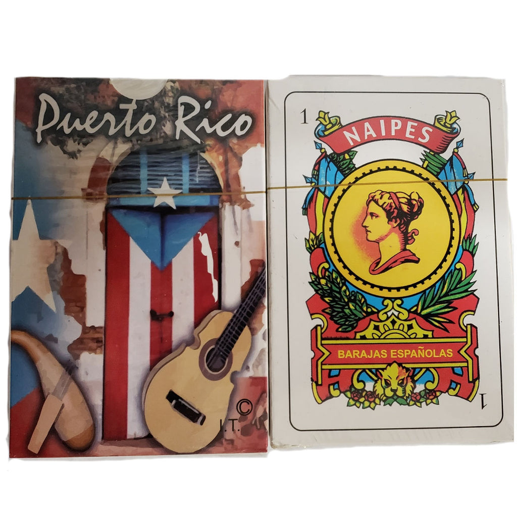 Puerto Rico Briscas Cards with Cuatro