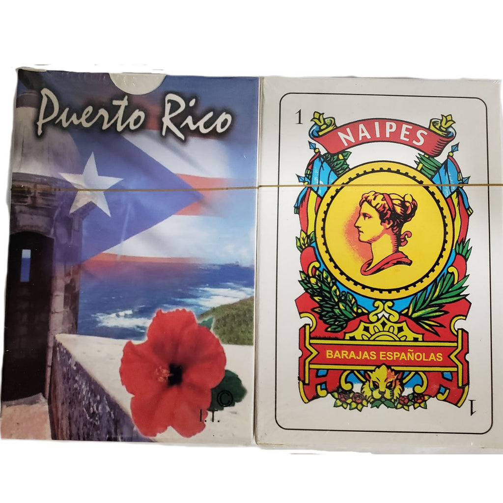 Puerto Rico Briscas Cards with Flower