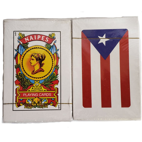 Puerto Rico Briscas Cards with Flag