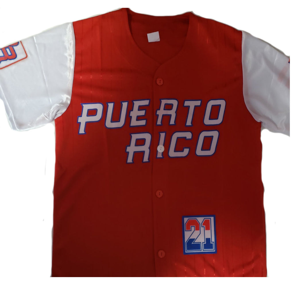 Puerto Rico Baseball Shirt, Red