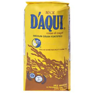 1 Bag D'Aqui Rice, Medium 3lb