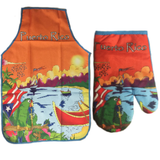 Apron and Hand Cooking Mitt Combo, Puerto Rico Cotorra