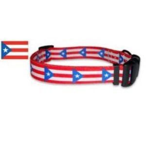 Puerto Rico Flag Dog Collar