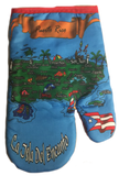 Apron and Hand Cooking Mitt Combo, Puerto Rico Map