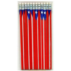 Flag Pencils 12 pack - www.ElColmado.com
