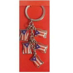 Puerto Rico Flag Collection Keychain