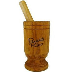 "Wooden Mortar, Pilon 8"" tall"