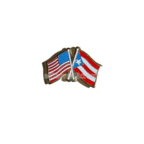Pins, Puerto Rico & USA Flag