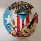 Puerto Rico Flag Door, 4 pieces Cup Holder